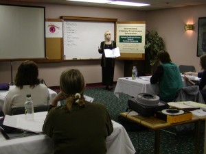 Georgina Cyr teaching Iridology Class